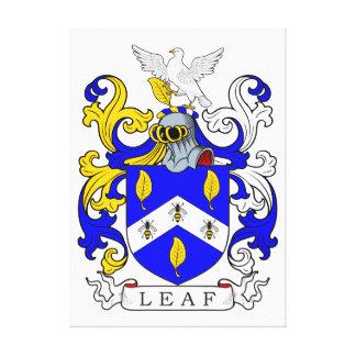 Leaf Coat of Arms Canvas Prints