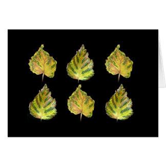 Leaf design greeting card