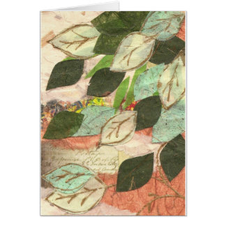 Leaf design greetings card