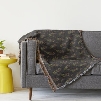 Leaf Design Throw Blanket
