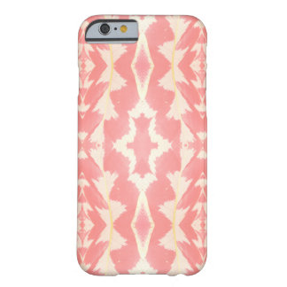 Leaf detail pattern in peach and pastel yellow barely there iPhone 6 case