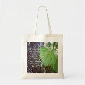 Leaf Encouragement Nature Themed Tote Bag