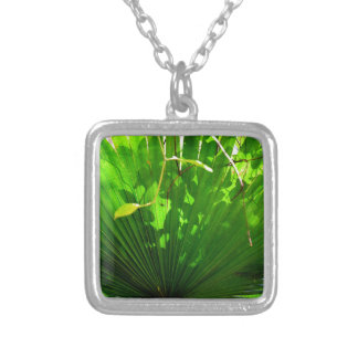 LEAF EUNGELLA NATIONAL PARK AUSTRALIA SILVER PLATED NECKLACE