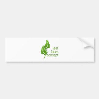 Leaf Faces Concept Bumper Sticker