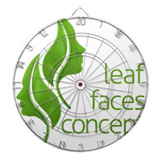Leaf Faces Concept Dartboard