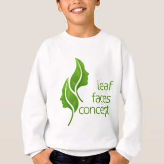 Leaf Faces Concept Sweatshirt