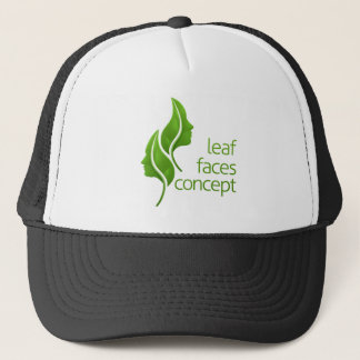 Leaf Faces Concept Trucker Hat