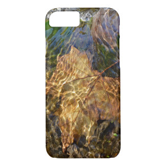 Leaf Floating Downstream Photographic Art iPhone 8/7 Case