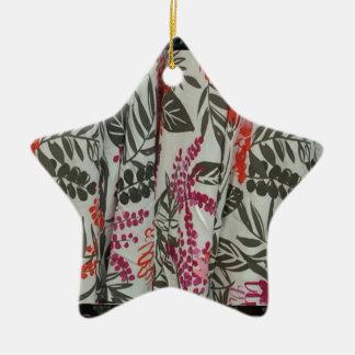 Leaf Flowers Fabric Dress pattern template diy fun Ceramic Star Decoration