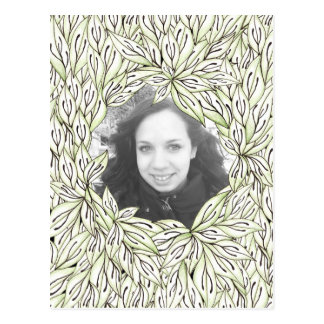 Leaf Frame Postcard