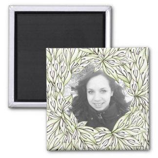Leaf Frame Square Magnet