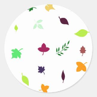 Leaf Green 丸形シール・ステッカー
