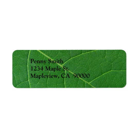 Leaf Green Close-up Photo Return Address Label