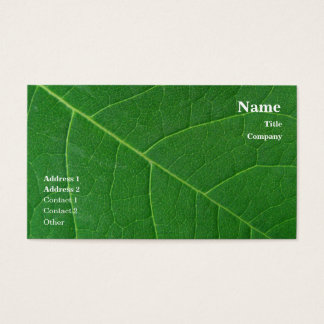 Leaf Green Close-up Photo Simple Business Card