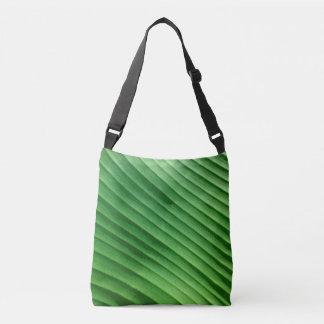 Leaf Green Diagonal Tote Bag