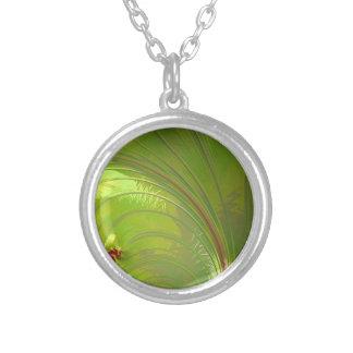 Leaf Green Fractal Pendant