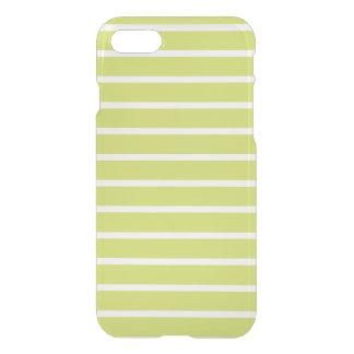 Leaf Green Horizontal Stripe Pattern iPhone 7 Case