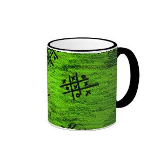 leaf green knots and crosses cup mugs