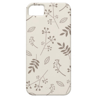 Leaf Greenery Nature Floral Ivory and Taupe iPhone 5 Cover