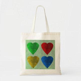 Leaf Heart 4 Seasons Tote Budget Tote Bag