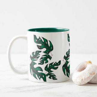 leaf illustration mug