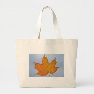 Leaf Image Tote Bags