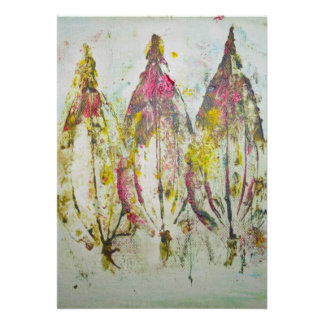 Leaf Impressions in Acrylic Invitation