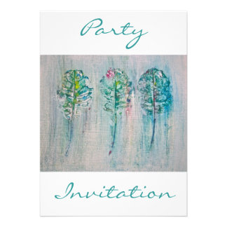 Leaf Impressions in Acrylic Party Invitation