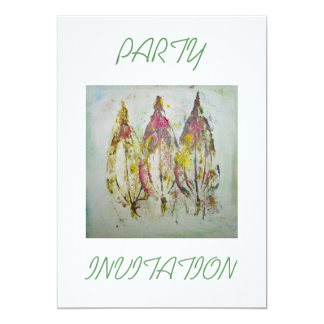 Leaf Impressions in Acrylic Party Invitation Card