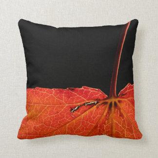 Leaf in autumn cushion