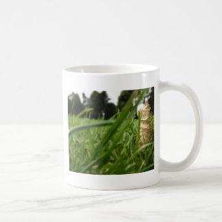 Leaf in grass mug