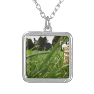 Leaf in grass pendant
