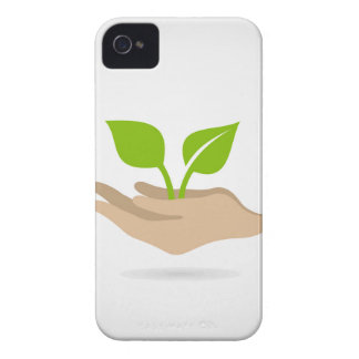Leaf in hands iPhone 4 covers