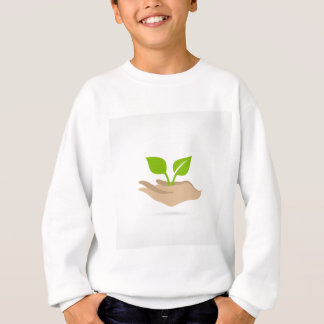 Leaf in hands sweatshirt