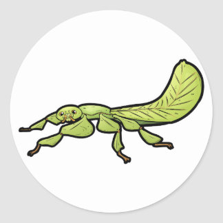 Leaf Insect Round Sticker