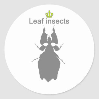 Leaf insects g5 classic round sticker