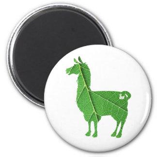 Leaf Llama Magnet