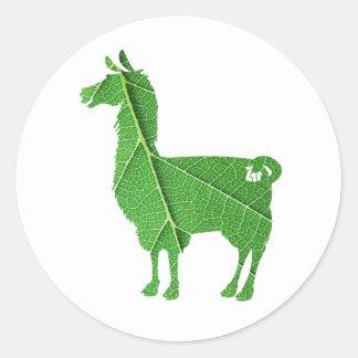 Leaf Llama Stickers