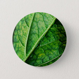 Leaf Macro 6 Cm Round Badge