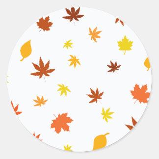 leaf Maple 丸形シールステッカー