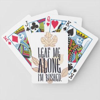 leaf me along i am bushed bicycle playing cards