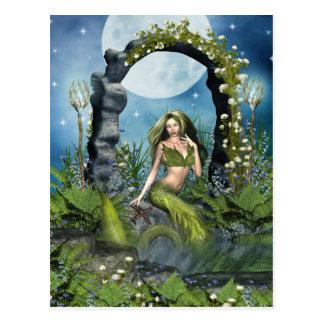 Leaf Mermaid Postcard