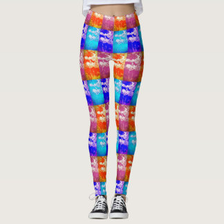 leaf mosaic leggings