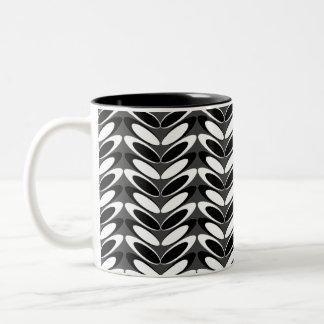 Leaf  N Wave (b&w) Coffee Mug