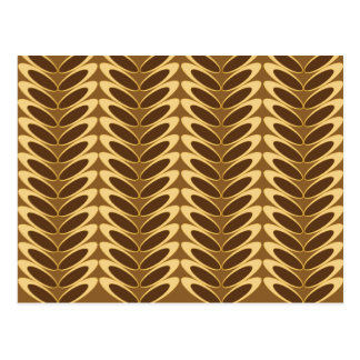 Leaf  N Wave (brown) Postcard