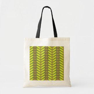 Leaf  N Wave (green) Canvas Bag