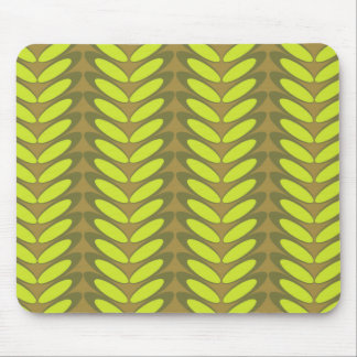 Leaf N Wave green Mouse Pads