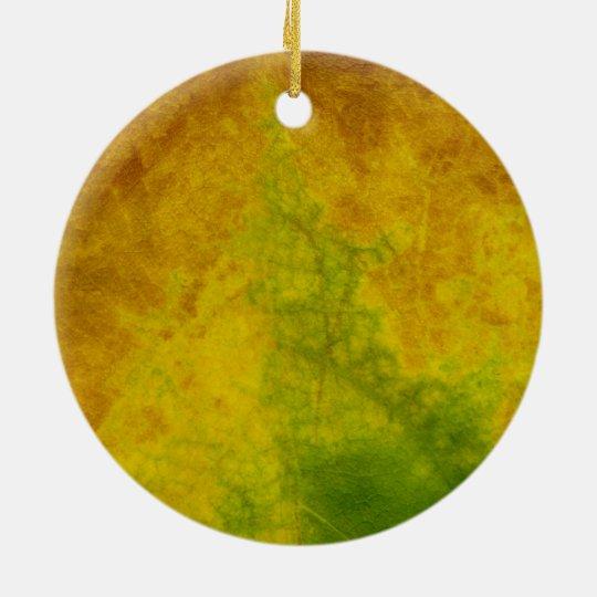 Leaf Nature Ceramic Ornament