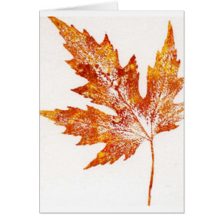 Leaf Nature Print Greeting Card
