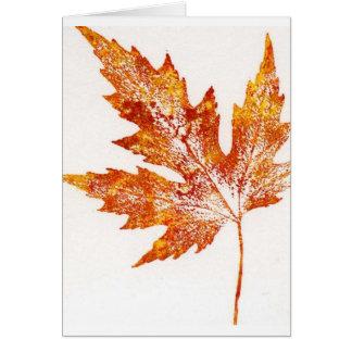 Leaf Nature Print Greeting Card. Greeting Card